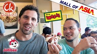 Testing Filipino Fast Food at Mall of Asia   Manila Philippines