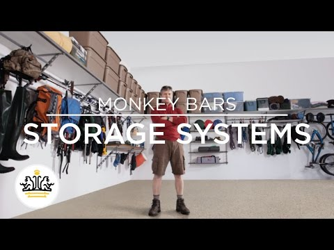 monkey bars storage systems