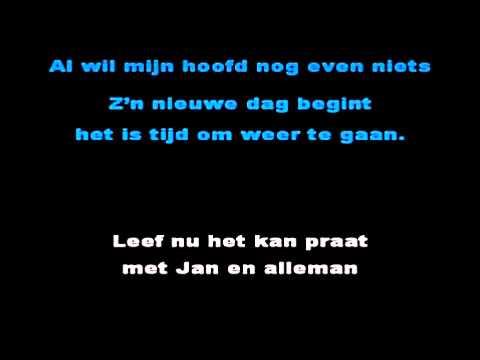 Jan Smit - Leef nu het kan (Karaoke, instrumental)