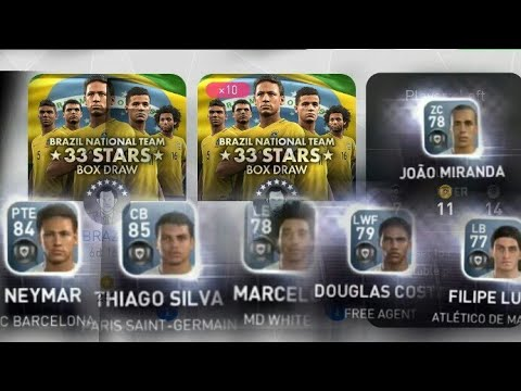 Pes 2017 mobile opening all black ball Brazil national team 33 stars