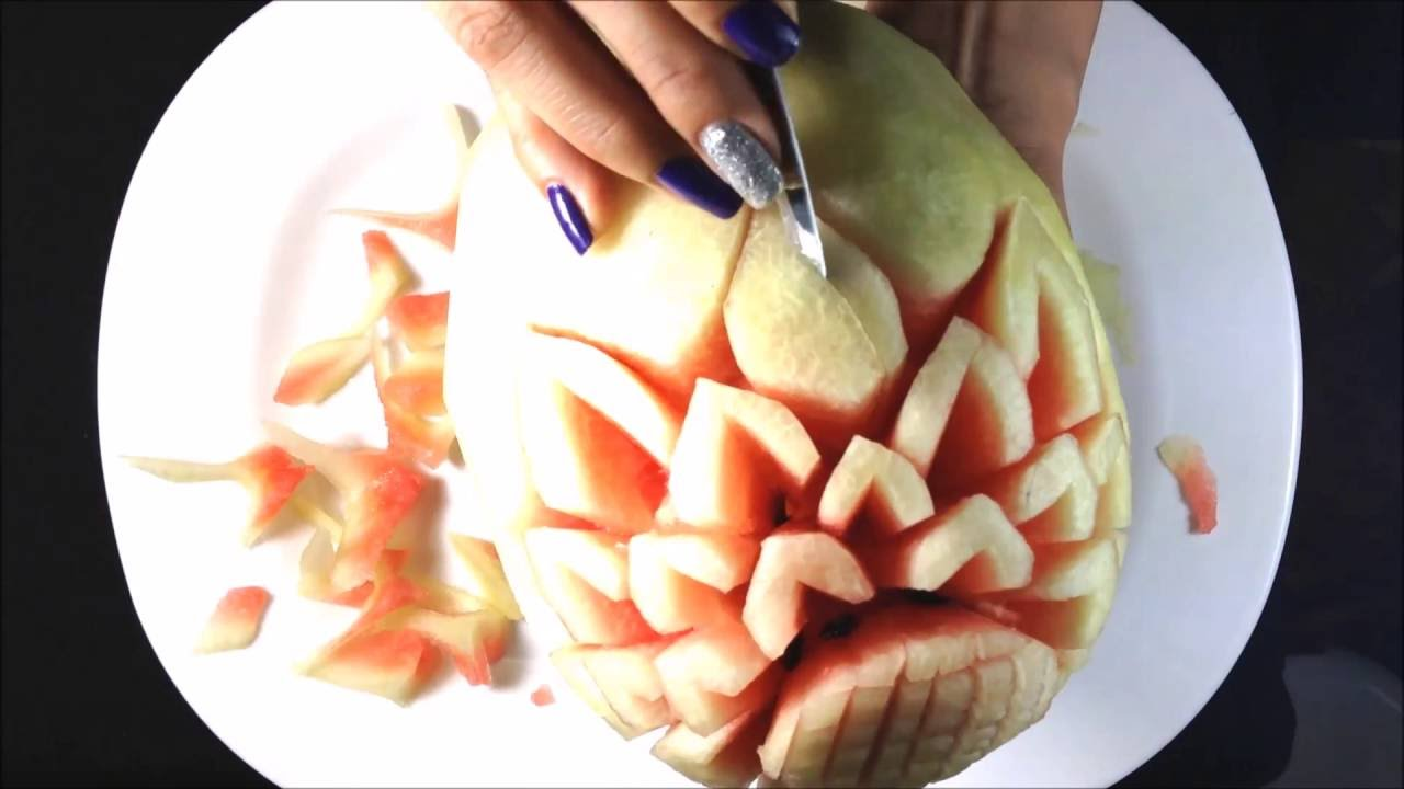 Watermelon carving for beginners fruit ideas
