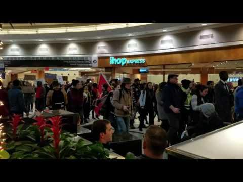 Hartsfield-Jackson Atlanta International Airport Immigration Ban protesting