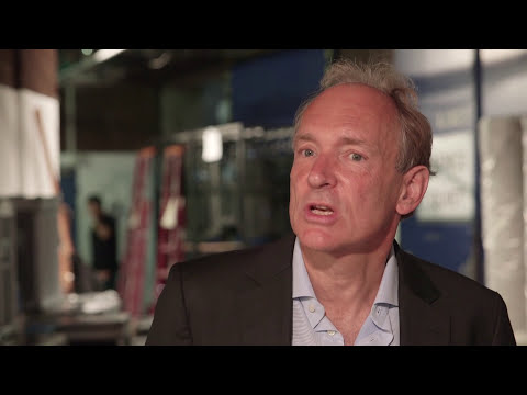 Sir Tim Berners-Lee and Mike Cooper at Cannes Lions