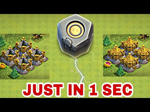 FILL YOUR GOLD STORAGES JUST IN 1 SEC | LET'S USE RUNE OF GOLD | NEW MAGICAL ITEM IN CLASH OF CLANS