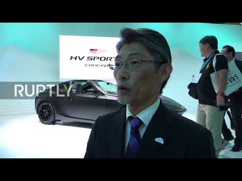 Japan: Honda and Toyota display their latest sports car creations in Tokyo