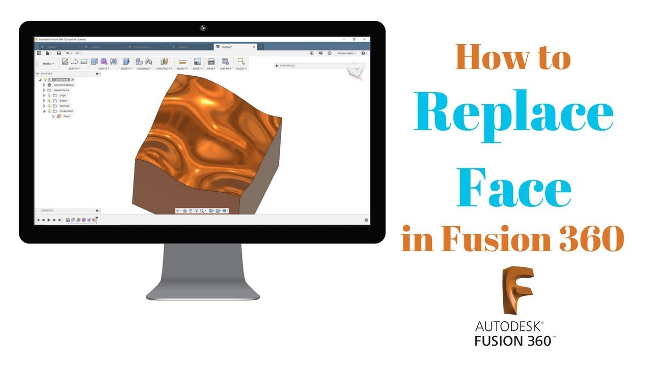 Replace Face & Sculpting in Fusion 360