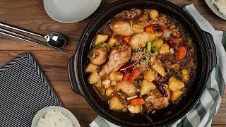 Jjim Dak (Braised Chicken) - Korean Cooking
