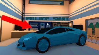 HOW TO GET A CAR INTO THE POLICE STATION (Roblox Jailbreak)