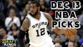 12/13/18 NBA DraftKings Picks