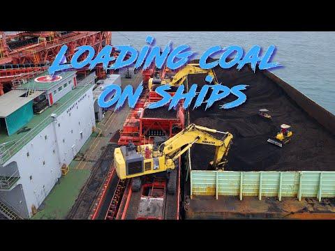 Loading Coal on Ships - Cinematic DJI Mavic Pro