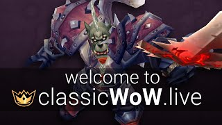 Welcome to ClassicWoW.live