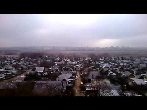 Вид на Октябрьский район Могилева. Первый снег