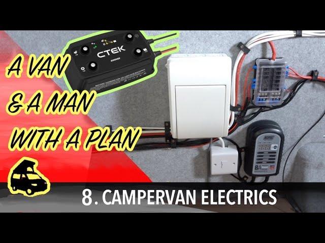 Installing campervan split charger, electrics and plumbing