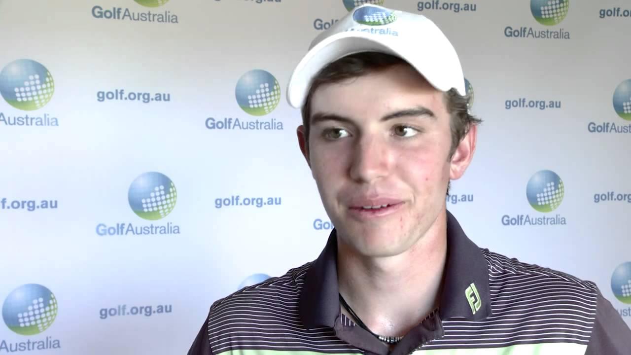 Ryan Ruffels after match play win at Australian Amateur 2015