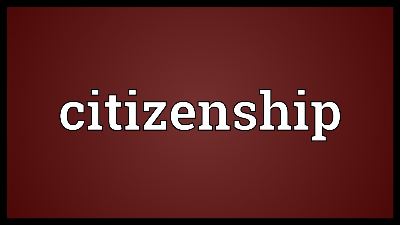 what is the definition for citizen