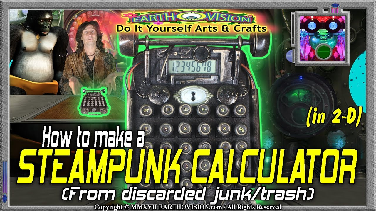 How to make a steampunk calculator from junktrashin 2ddiydo it how to make a steampunk calculator from junktrashin 2ddiydo it yourself arts crafts solutioingenieria Gallery