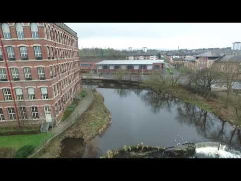 Paisley Renfrewshire by drone