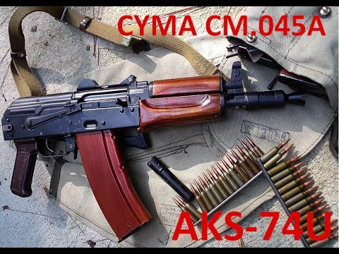 AKS-74U Airsoft - CYMA CM.045A steel+wood unboxing from Gunfire.pl