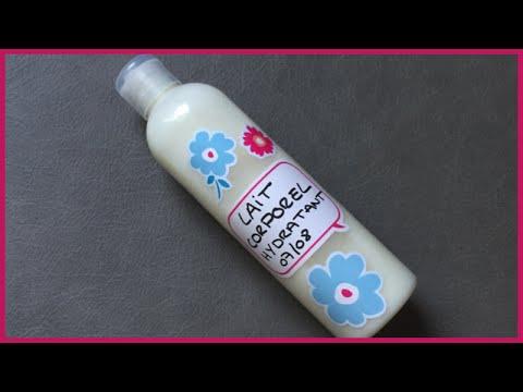 recette lait hydratant corps