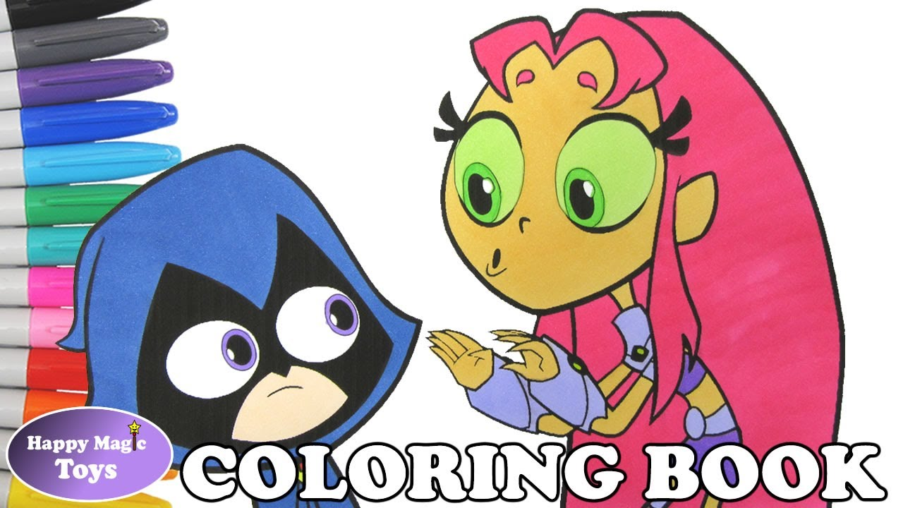 teen titans go raven and starfire coloring book pages teen titans
