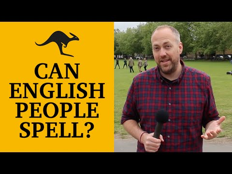 Can English people spell? | Canguro English