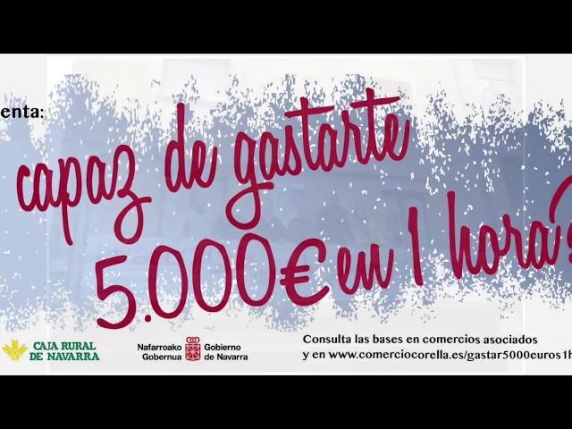 Saturnina gasta sus 5.000€ que ganó gracias a la Asociación de Comerciantes de Corella