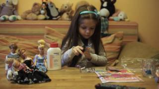 Liucina unpacking Barbie magazine