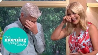 Holly And Phillip Get The Giggles And End Up Crying With Laughter | This Morning