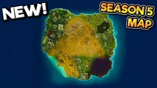 SEASON 5 *NEW* MAP AND BATTLE PASS SKIN LEAK Fortnite: Battle Royale