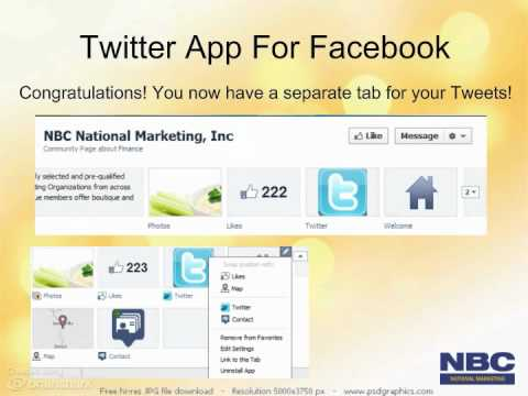 Step by Step How to Add a Twitter Tab to Your Facebook Business Page