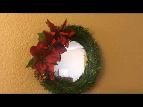 Dollar Tree $3.00 DIY - Mirrored Christmas Wreath