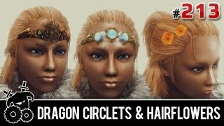 ★ Skyrim Mods Series - #213 - Dragon Circlets, Hairflowers, Aetherial Crown Replacer