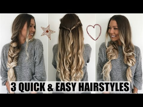 3 Quick & Easy Hairstyles // Back to School