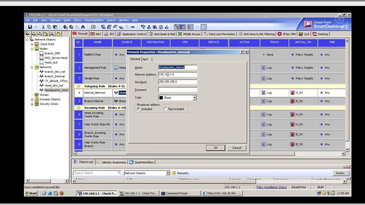 checkpoint ccsa r75 home lab dmz server youtube