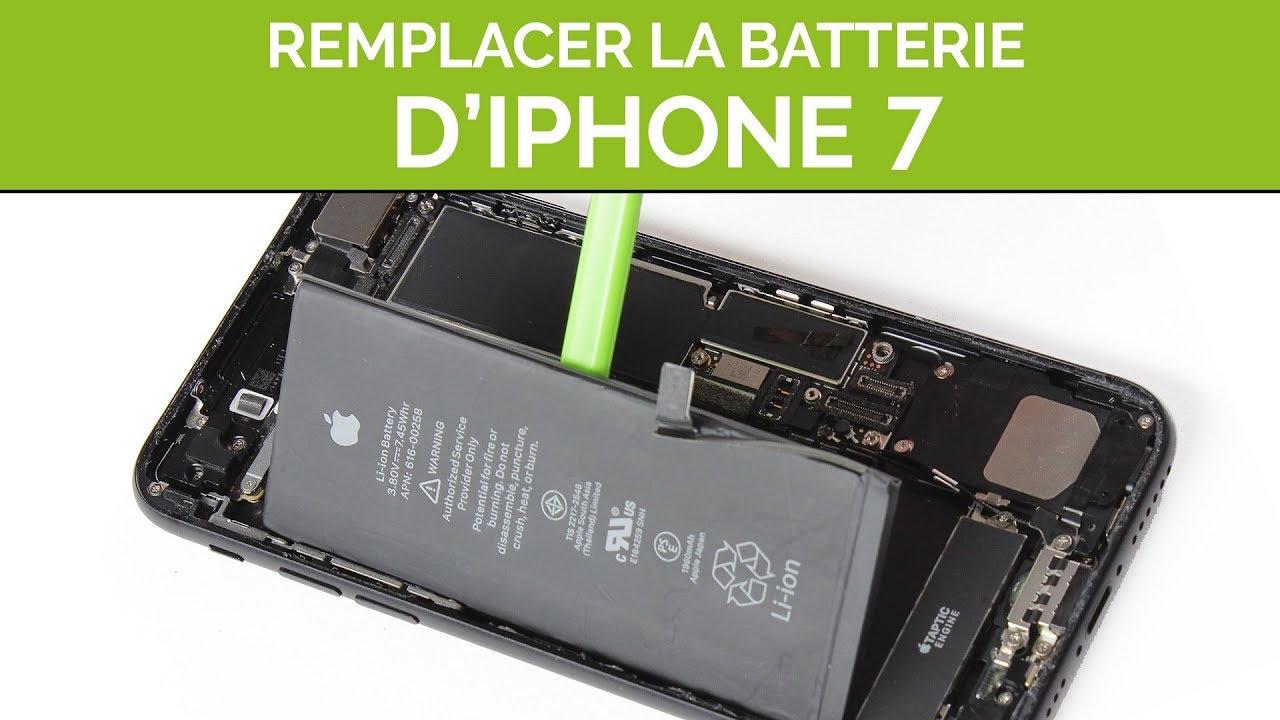 comment remplacer la batterie iphone 7  by sosav