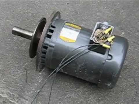 Baldor 3 phase motor - YouTube