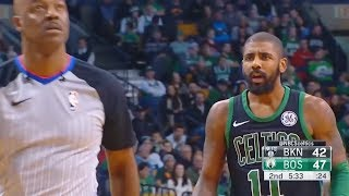 Kyrie Irving ANGRY AT REFEREE FOR GIVING HIM A TECHNICAL FOUL FOR NO REASON!!! Celtics vs Nets