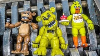 Shredding Five Nights at Freddy's Mini Figures! Unboxing and Destruction!