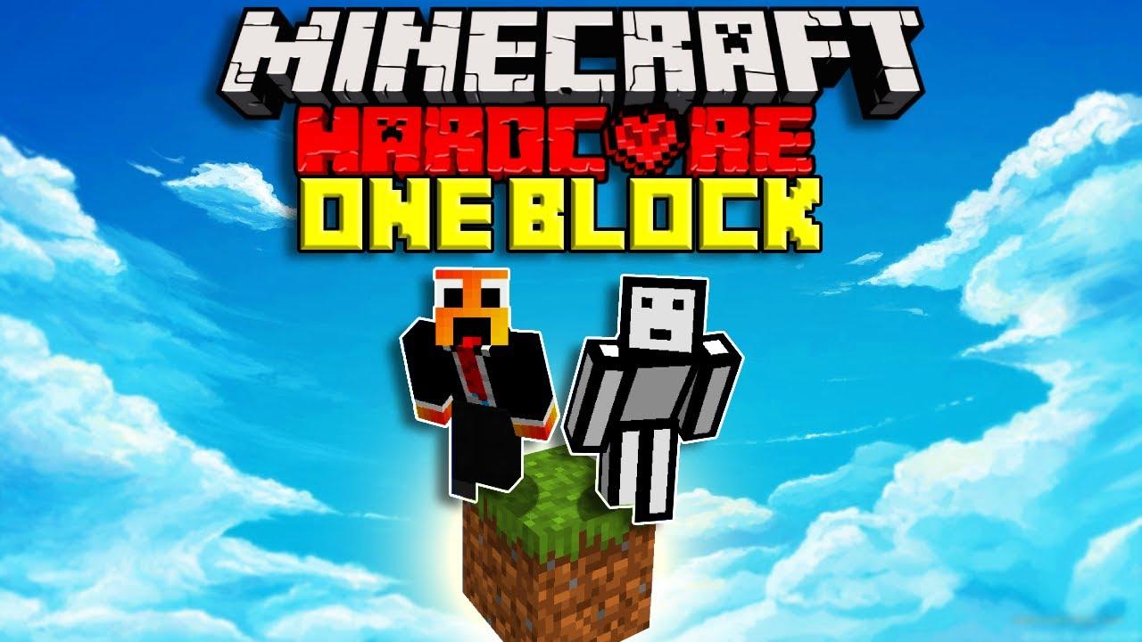 Download We Survived 100 days On One Block In Hardcore Minecraft   Minecraft Hardcore DUO 100 Days