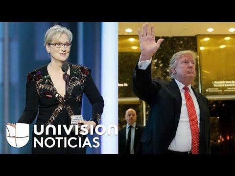 Trump responde a Meryl Streep en Twitter y dice que está
