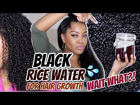 BLACK RICE Water For Even Faster Hair Growth!? | Natural Hair | Melissa Denise