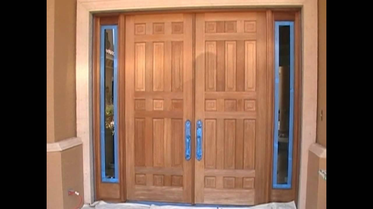 How to Stain Mohagany doors - YouTube