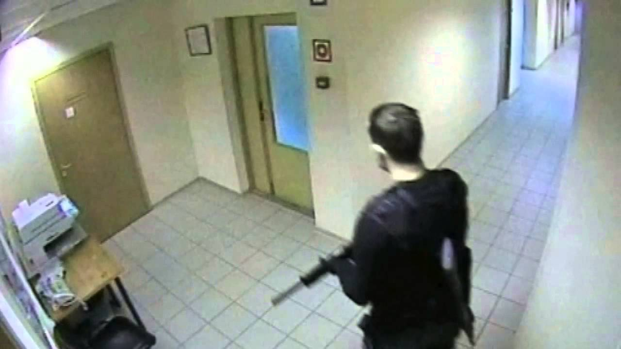 LiveLeak Gallery: CCTV Of Moscow Shooting: Jilted Man Kills Six Colleagues