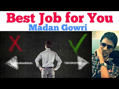Best Job for You | Tamil | Madan Gowri | MG