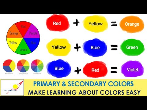 primary colors and secondary colors