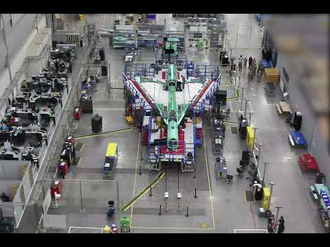 Time-lapse of X-59 Quiet SuperSonic Technology aircraft (May 2019 - June 2021)