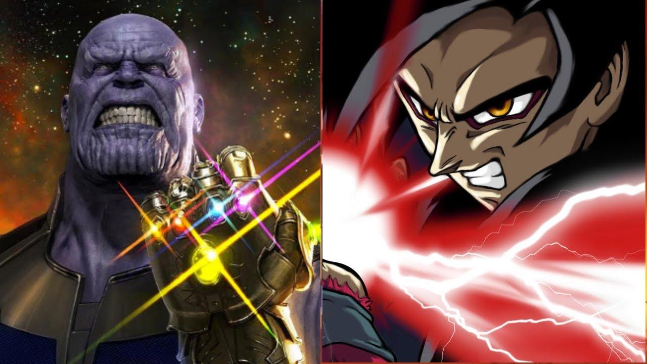 Goku Vs Thanos: SSJ4 Goku Vs Thanos Power Levels (Dragon Ball GT Vs Marvel