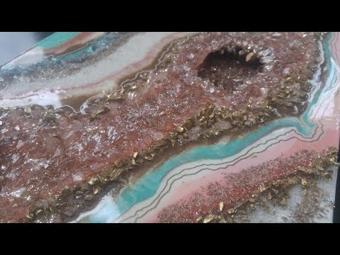 #23- How to make a 3D resin geode, part 3
