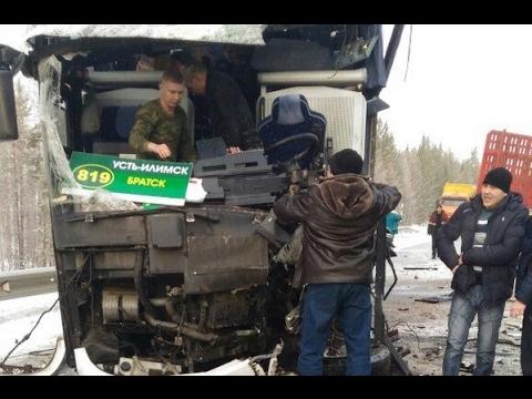 """Автобус столкнулся с лесовозом. """"Усть-Илимск-Братск"""""""