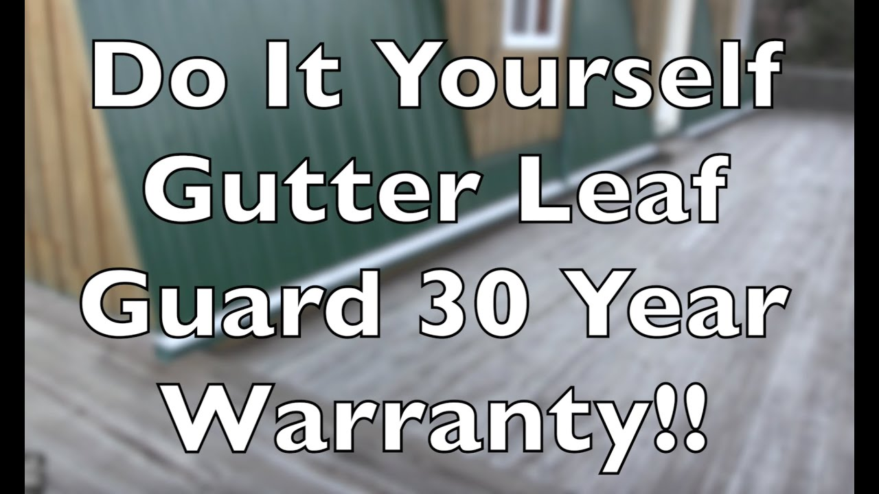 Gutter leaf guard easy to install do it yourself youtube gutter leaf guard easy to install do it yourself solutioingenieria Choice Image